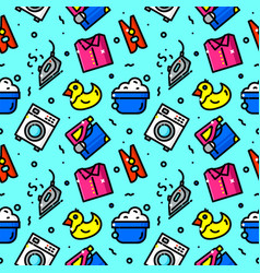 Laundry serves seamless pattern vector