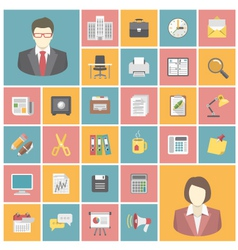Modern Office Icons vector image