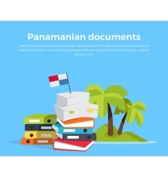 Panama Papers Offshore Company vector image vector image