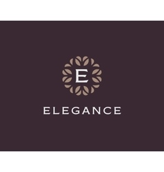 Premium monogram letter e initials logo universal vector
