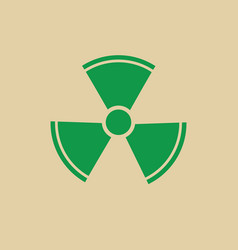Radiation packaging symbol sign icon vector
