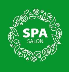 Round logo for spa salon vector