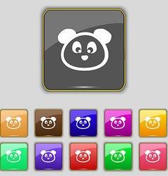 Teddy bear icon sign set with eleven colored vector
