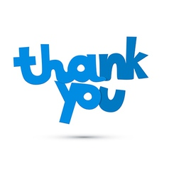 Thank you blue title isolated on white background vector