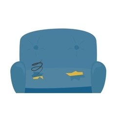Old sofa vector