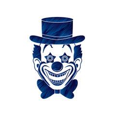 Clown head smile face graphic vector