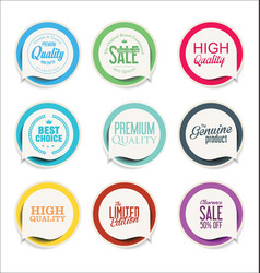 Abstract modern label collection 3 vector