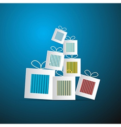Paper abstract gift present boxes vector