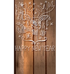 Deer with great horns and decorations for vector image