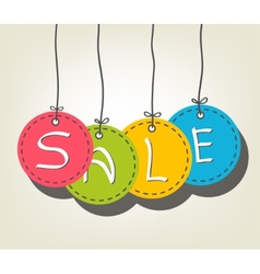 Sale colorful tags vector
