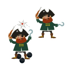 Pirate captain characters vector