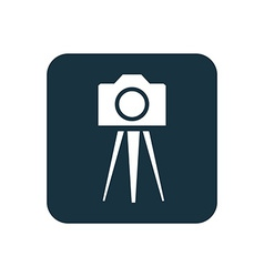 Photo camera tripod icon rounded squares button vector