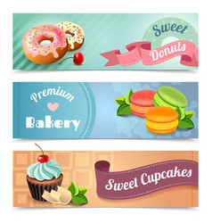 Bakery banners set vector