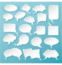 Shiny white paper bubbles for speech vector
