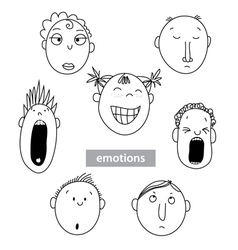 Emotions of different people vector