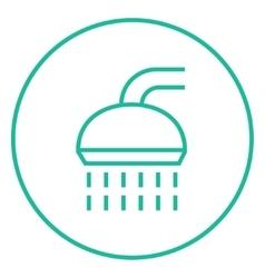 Shower line icon vector