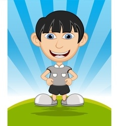The boy laughing cartoon vector