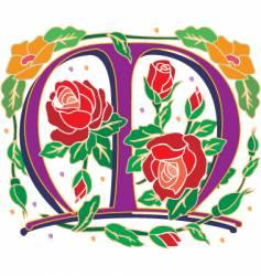 rosette letter M vector image