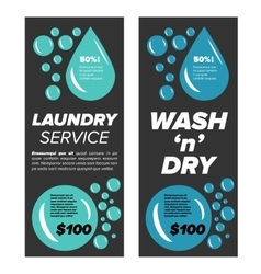 Laundry service banners vector