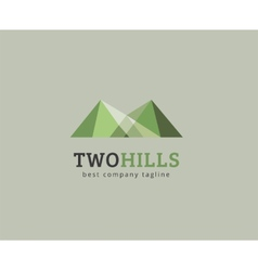 Abstract green hills logo icon concept vector