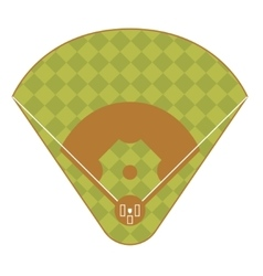 Baseball game field top view vector