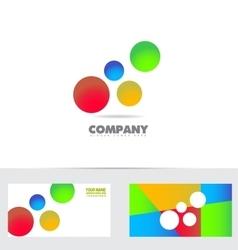 Bubble colors logo vector