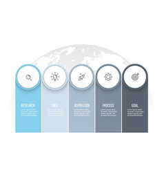 business infographics presentation with 5 columns vector image vector image