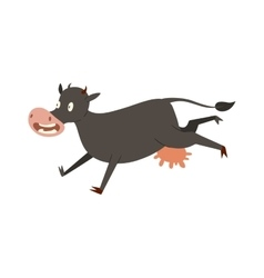 Cartoon cow character isolated vector image vector image