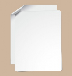 clipped paper sheets vector image vector image
