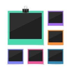 Collect moments set photos hanged with vector
