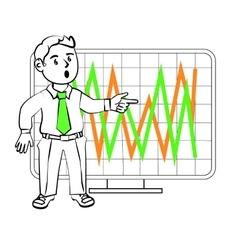 Emotions of a SIM trader vector image vector image