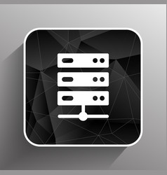 Flat Computer Server system icon vector image