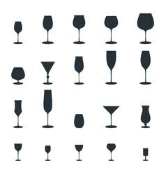 glass vine glass icon vector image