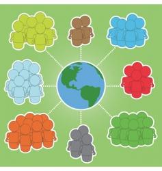 global communities vector image vector image