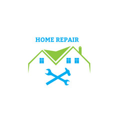 home repair emblem vector image