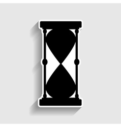 Hourglass sign sticker style icon vector