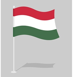 Hungary flag official national symbol of hungarian vector