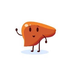 Liver primitive style cartoon character vector