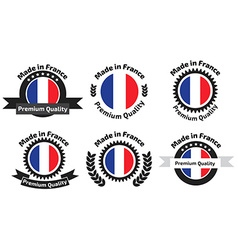 Made in Franse badges set vector image vector image