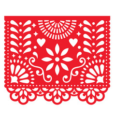 Mexican paper decorations - papel picado vector