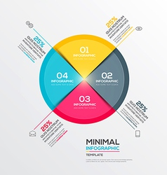 Minimal infographics vector image vector image