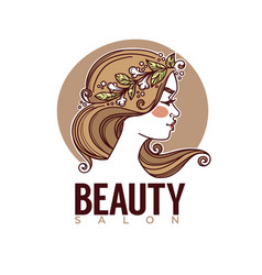 nature of beauty sketch image of girl face for vector image vector image