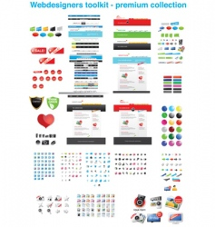 premium icon collection vector image vector image