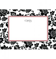 rose pattern and frame vector image vector image