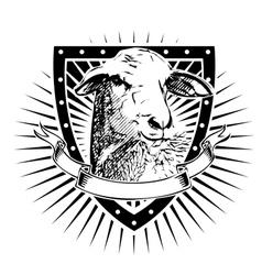 sheep shield vector image