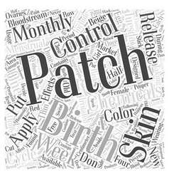 The birth control patch word cloud concept vector