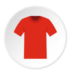 Tshirt icon circle vector