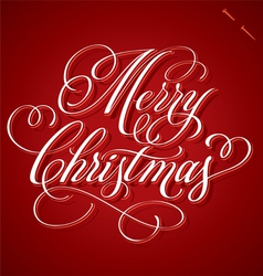 Merry christmas hand lettering vector