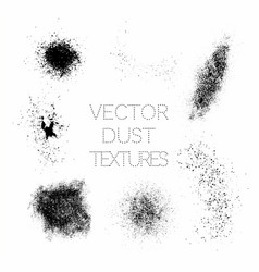 Set of black paint ink grunge dirty splatter vector