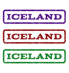 Iceland watermark stamp vector